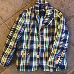 Plaid sports coat
